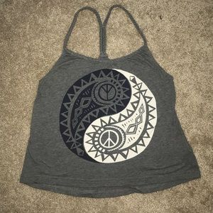 Great tank top with ying yang design